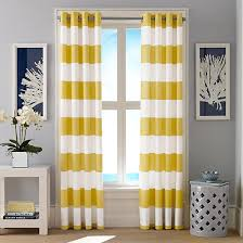 Yellow Stripe Curtains Interesting Yellow Striped Curtains And Cabana Stripe Yellow