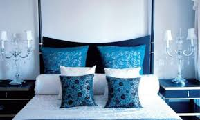 black and white bedrooms with blue accents video and photos