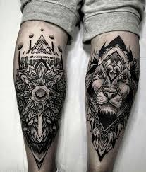 tattoo tribal na perna masculina tendências tatuagens masculinas 2018 novidades para o novo ano