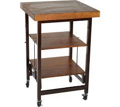 kitchen carts storage organization kitchen food qvc com oasis wood top folding kitchen cart k45788