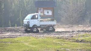 mitsubishi mini trucks mini truck with tracks at mclean creek alberta youtube