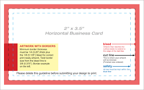 business card blank template with guides adobe education exchange