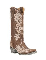 by old gringo women u0027s brown with white embroidery western snip toe