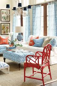 red white and blue decor in a coastal living room home decor