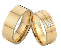 titanium style rings images Big western european style gold colour pure titanium wedding bands jpg