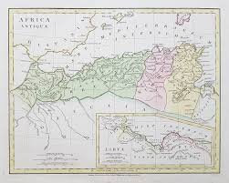 Map Of Libya Antique Map Of Ancient North Africa Libya For Sale