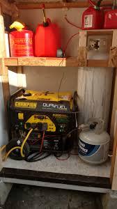 champion 100155 7000w 9000w dual fuel generator used factorypure