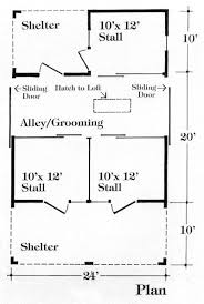 chestnut valley 3 stall barn plan