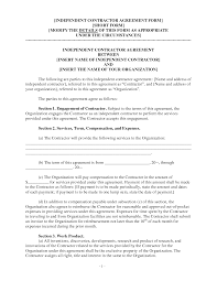independent contractor agreement form general contractor home