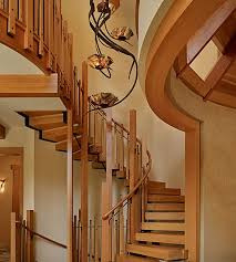 L Shaped Stairs Design Designs Ideas Modern Living Room With Wood Floating Stairway And
