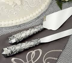 wedding cake knife set engraved cake server sets frosted glass vine handles