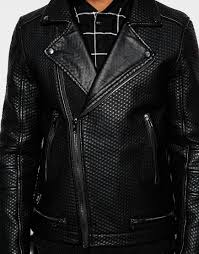 biker jacket sale black kaviar biker jacket in black for men lyst