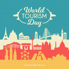 monuments for silhouettes of monuments for the world tourism day vector free