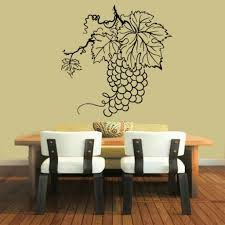 grapes wall decals bunch of grapes kitchen wall decor floral grape
