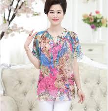 plus size silk blouse 2017 newest summer silk chiffon shirt plus size floral printed