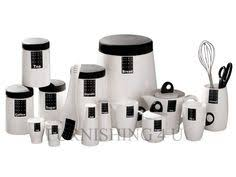 black and white kitchen canisters black and white kitchen canister sets ebay image 1 3 black white