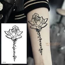buddha lotus designs temporary letters sanskrit tibetan word