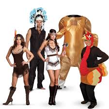 gobble gobble with thanksgiving costumes