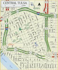 map of tulsa odot 2007 highway map downtown tulsa