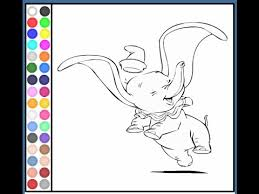 dumbo elephant coloring pages dumbo coloring pages game