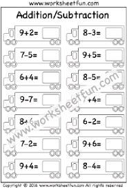 addition u2013 sums up to 20 free printable worksheets u2013 worksheetfun