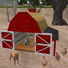 Red Barn Kennel Second Life Marketplace Classic Red Barn Dog House