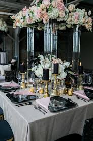 Pink And Gold Table Setting by Blush And Gray City Wedding Inspiration At Atlanta Daylight Studio