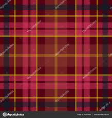 vector seamless scottish tartan pattern in black red yellow