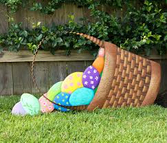 outdoor easter decorations easter basket yard decoration
