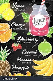 summer fruit berry juice bar restaurant stock vector 637289260