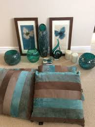 teal jade green brown home accessories cushions pictures