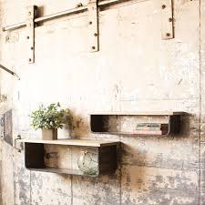 metal and wood wall shelves set cq6472