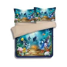 Mermaid Duvet Set Aliexpress Com Buy Colorful Fish Starfish Coral Dolphin And