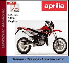 aprilia mx 125 2003 u003e workshop service repair manual ebay