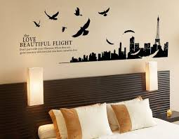 stickers muraux chambre decoration stickers muraux paysage oiseaux plumes chambre