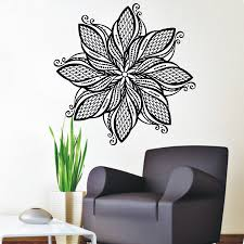 yoga mandala om indian buddha namaste quote wall decal home decor mandala flower wall stickers art vinyl self adhesive home decor indian religious pattern wall murals for