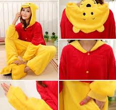 Size Animal Halloween Costumes Winnie Pooh Jumpsuits Halloween Costume Winter Winnie Pooh
