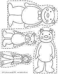 coloring page good looking 3 little bears book primary resources