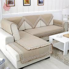 housses de canape style européen haut de gamme beige solide velours matelassé housse