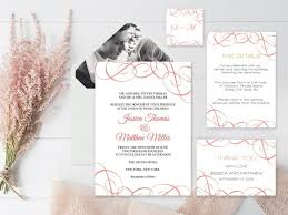 Blank Wedding Invitation Kits Wedding Invitation Suite Templates Coral Swrils Wedding