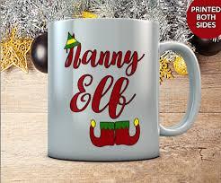 nanny elf mug cute personalized christmas gift coffee mug for