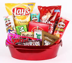 junk food basket junk food large