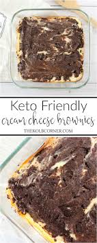 cuisine dessert keto cheese brownies low carb sugar free domestically