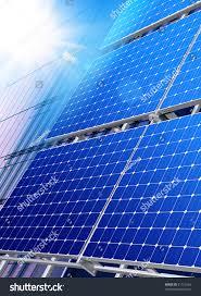 solar panels on roof solar panels on roof modern skyscraper stock photo 91753184