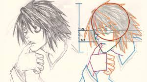 how to draw l death note drawing and digital painting tutorials