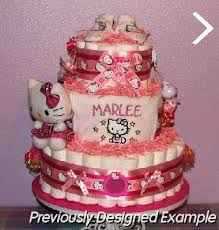 baby diaper cakes kitty baby gifts