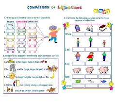 Adjectives That Compare Worksheets English Chamber Exercise 4 Comparison Of Adjectives Part 1
