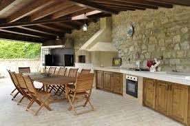 cuisine d ext駻ieure jardins et terrasses cuisine dete table aménager une cuisine d