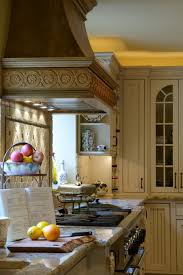 outstanding carving cabinet for design kitchen with hidden hood