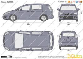 mazda 5 the blueprints com vector drawing mazda 5